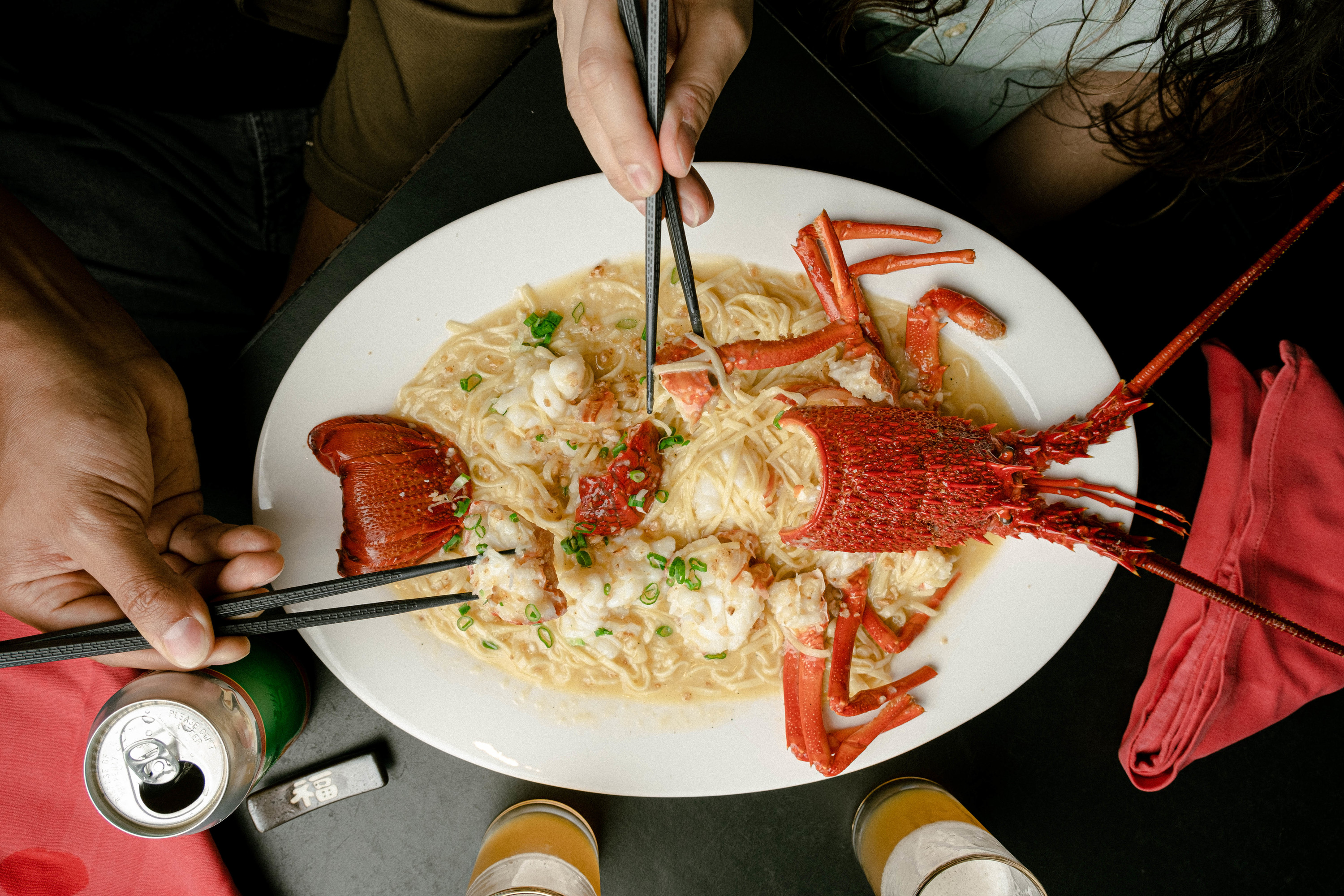 Ho Lee Fook lobster with e-fu noodles