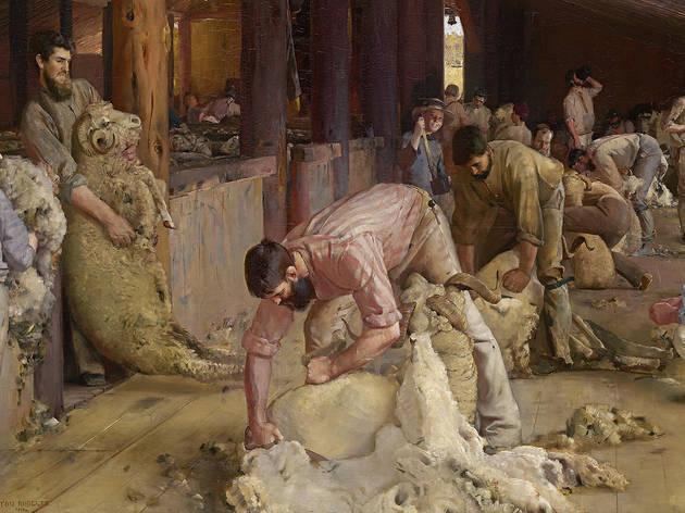 Shearing the rams, Tom Roberts (Photograph: NGV | Detail of Shearing the rams, 1890, Tom Roberts)