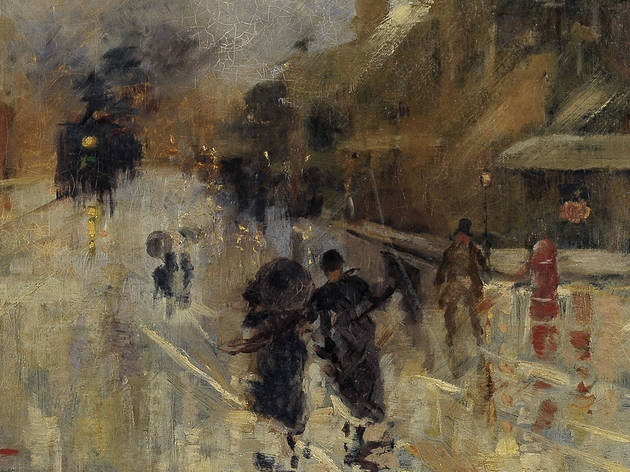 A wet evening, Girolomo Nerli (Photograph: NGV | Detail of A wet evening,1888, Girolomo Nerli)