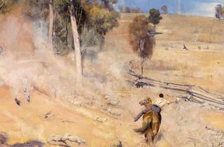 A break away!, Tom Roberts (Photograph: NGV | Detail of A break away!, 1891, Tom Roberts)