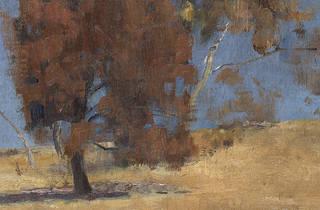She-oak and sunlight hero (Photograph: NGV | Detail of She-oak and sunlight, 1889, Tom Roberts)