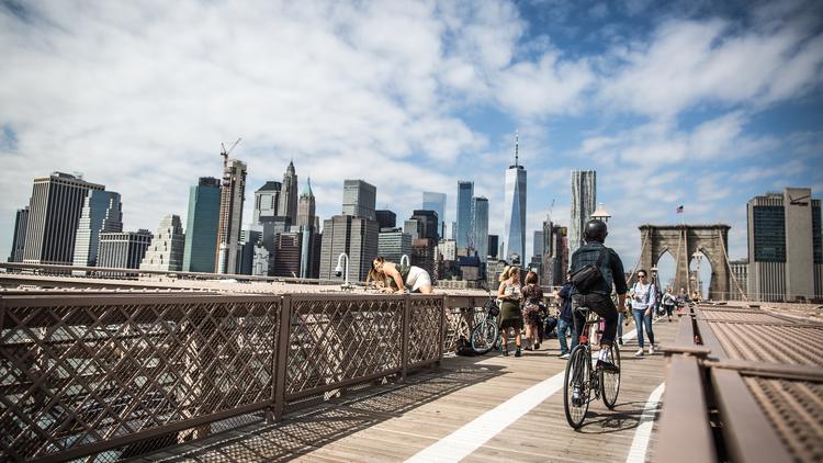 Bike on Brooklyn Bridge