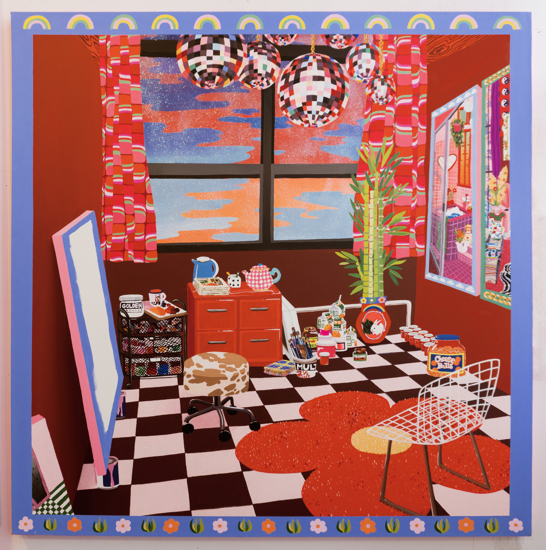 Rachael Tarravechia - The Red Studio (After Matisse)