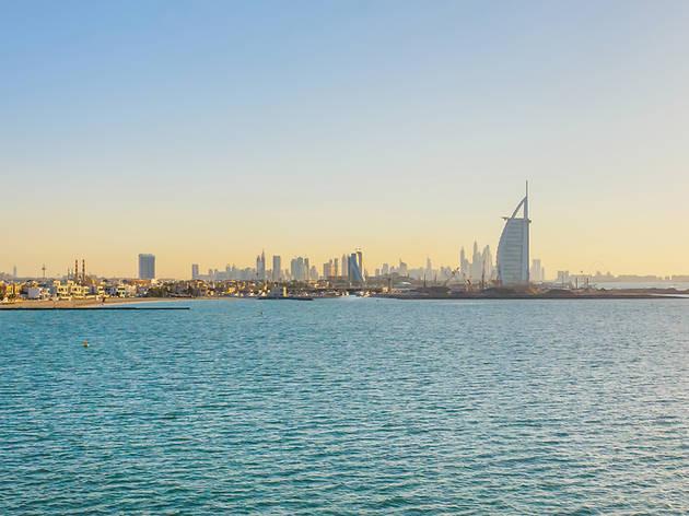 Coastline and Burj al Arab, Dubai