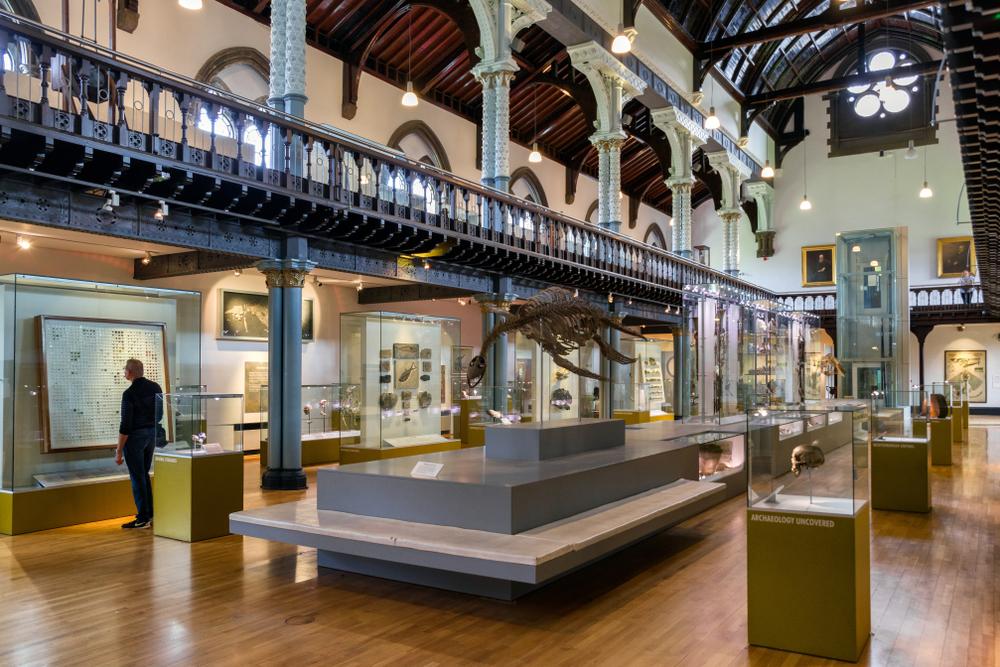 Interior of Hunterian Museum, Glasgow