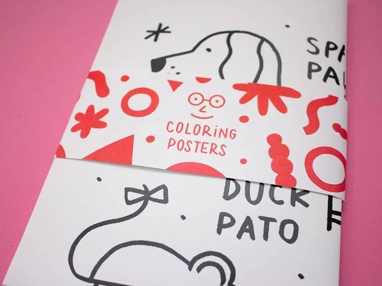 Poster para colorir