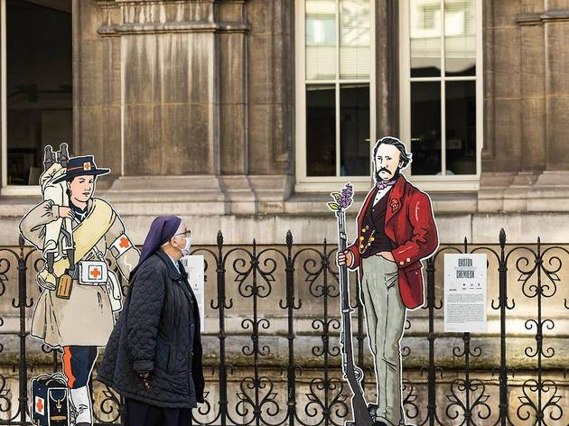 Le street artiste Dugudus célèbre les 150 ans de la Commune avec une expo en plein air