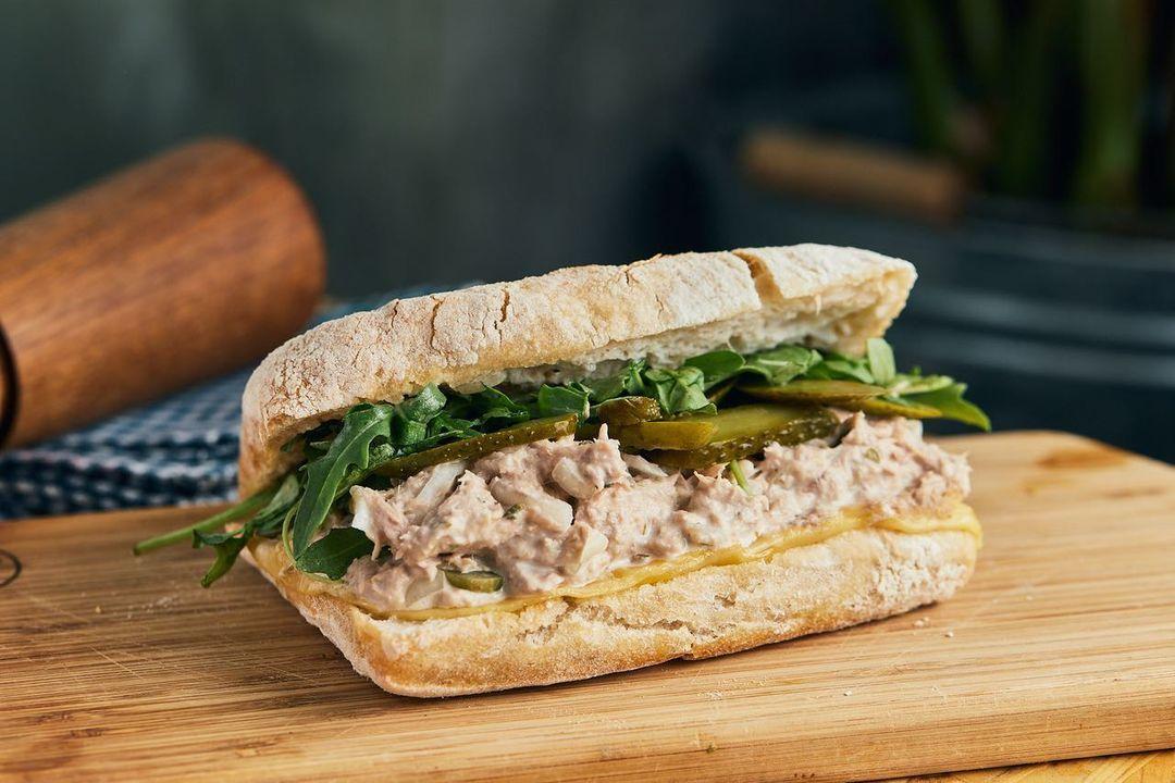 Knead tuna melt sandwich
