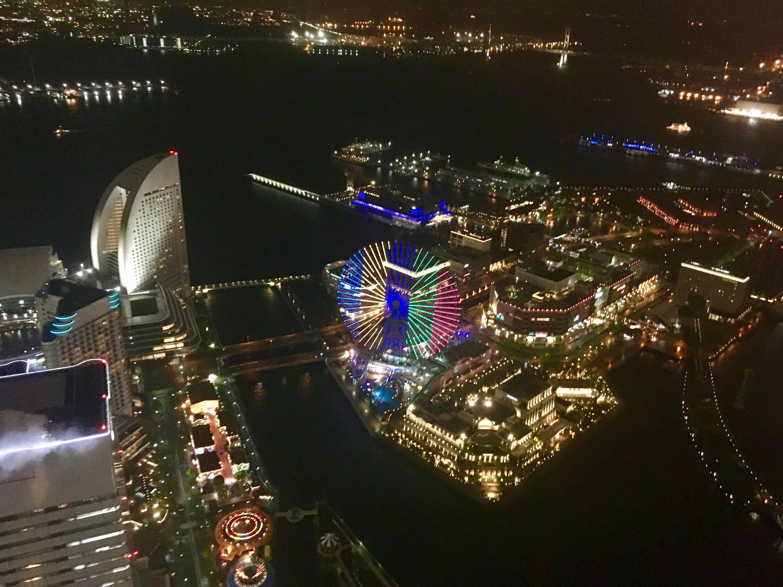 オリンピック100日前を記念して横浜の名所が一斉ライトアップ