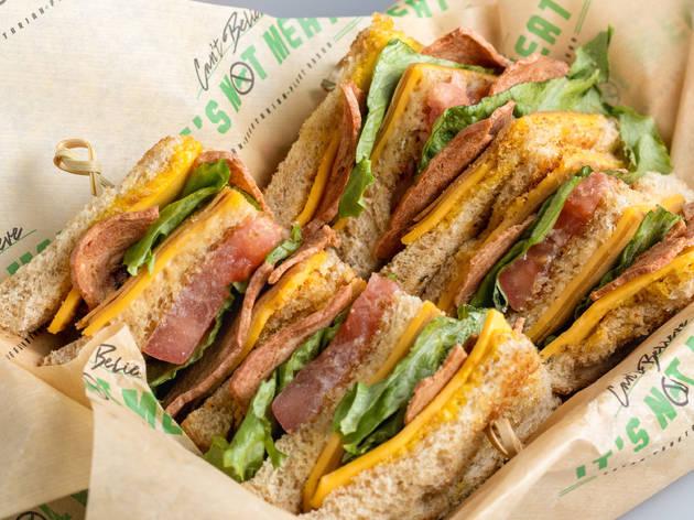 Can't Believe It's Not Meat sandwich