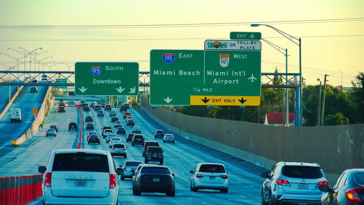 Miami i-95, traffic, highway