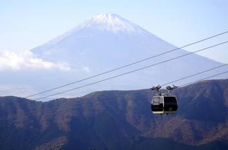 Hakone ropeway with Mt Fuji in the background