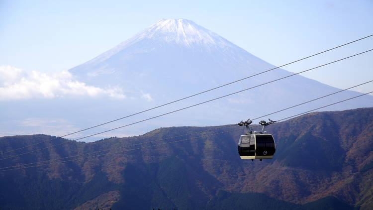 Hakone, ropeway, cable car, Mt Fuji
