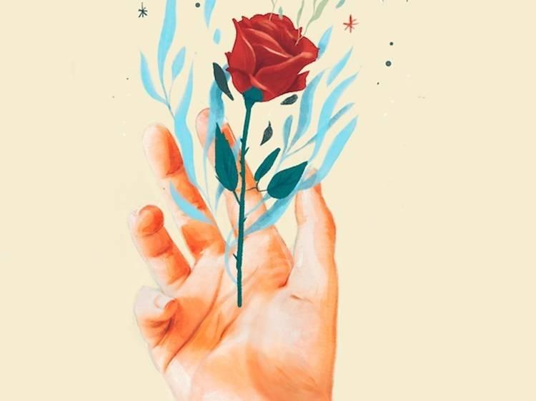 Rosas ilustradas para enviar