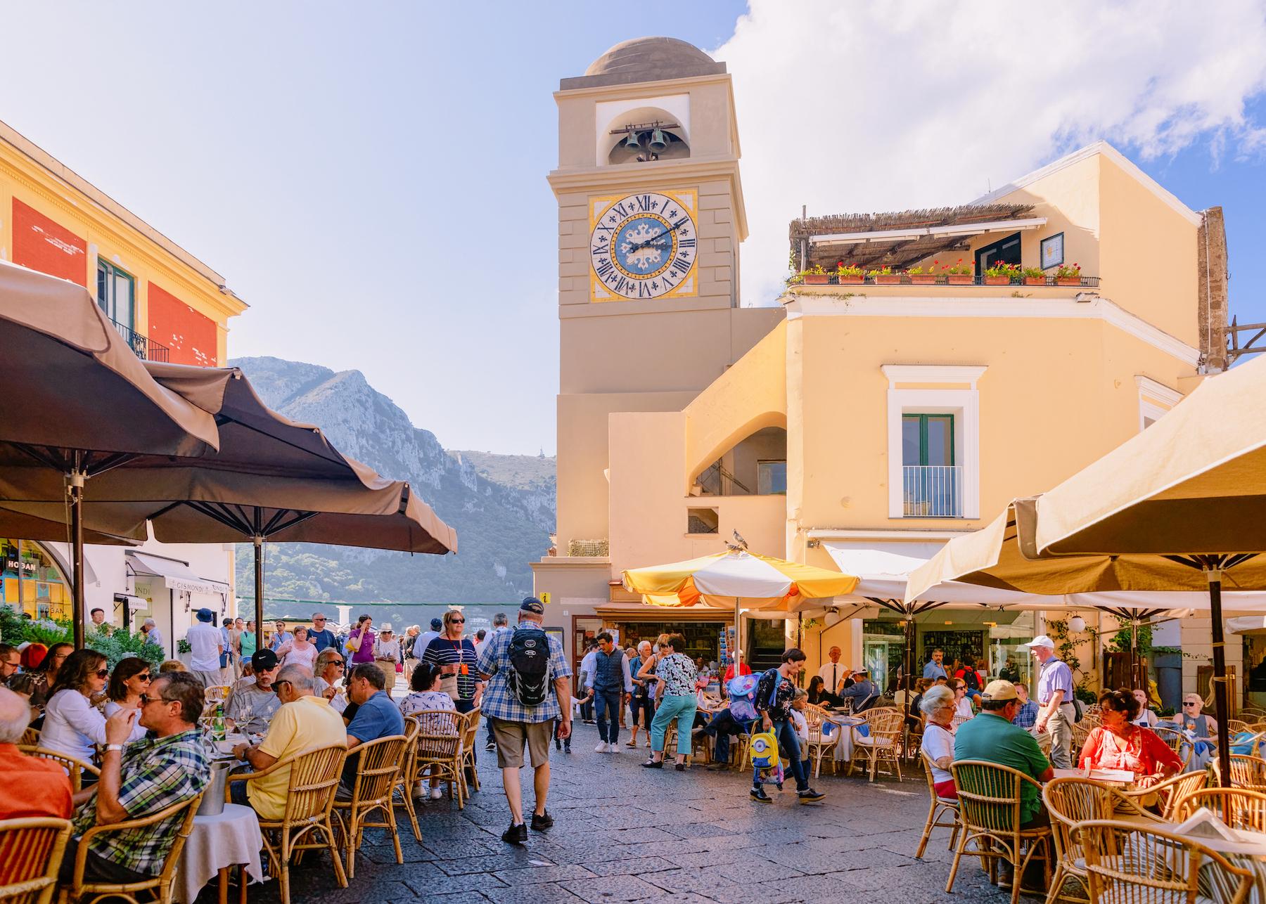Piazza Umberto in Capri