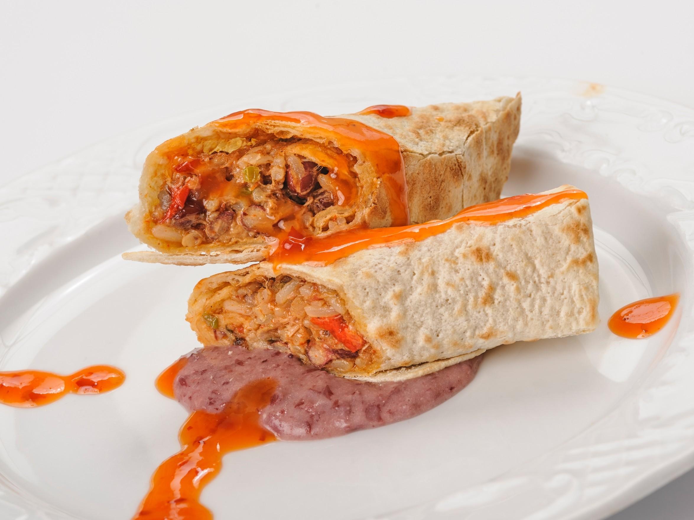 Burrito de galta ibèrica de Caracas 2