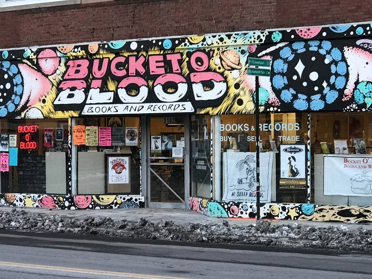 Find new tunes at Bucket O'Blood Records and Book Store