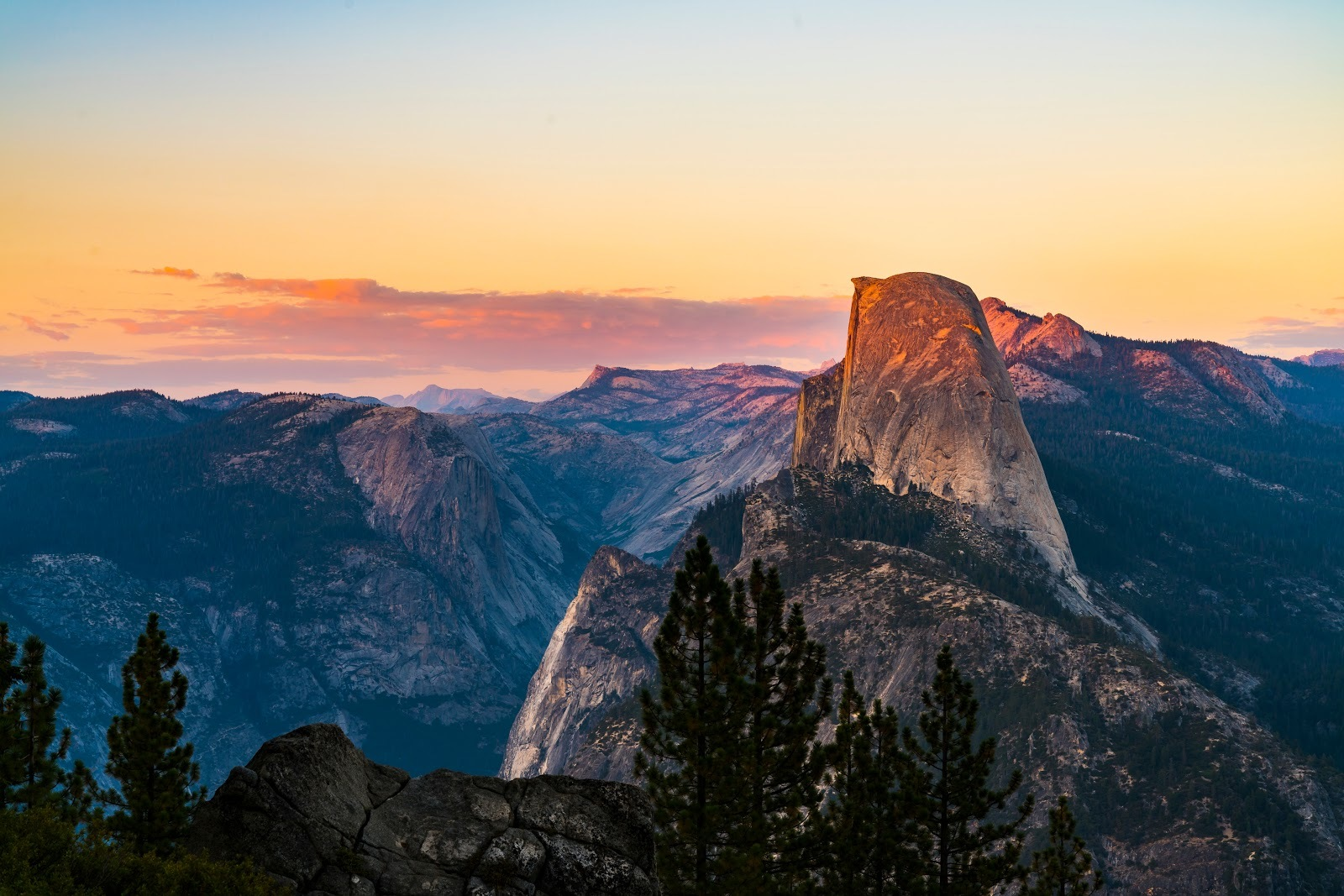 Glacier point at sunset
