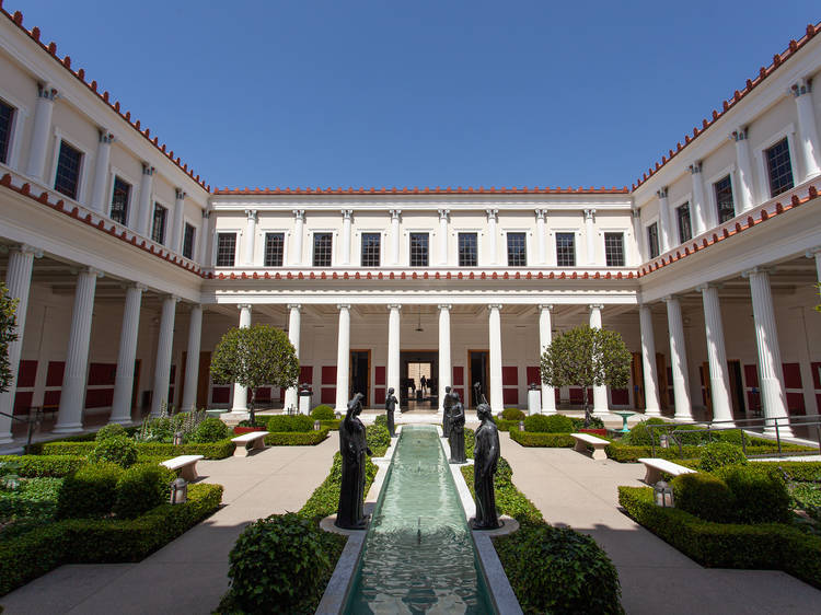 Enjoy art and a peek of the ocean at the Getty Villa