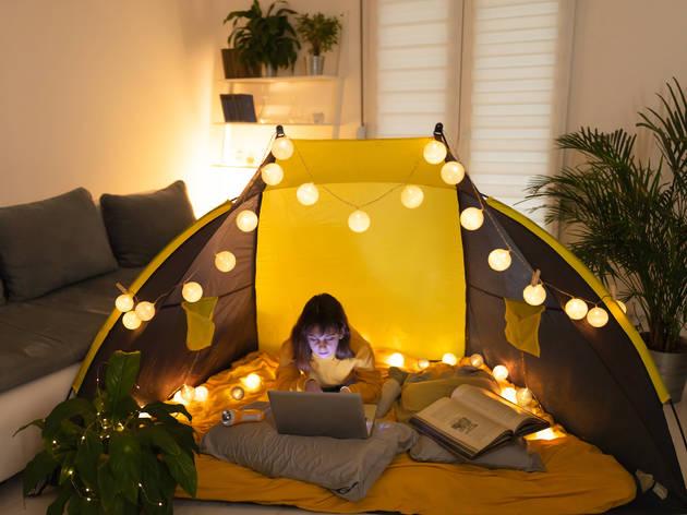 Camping en casa