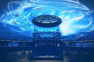 A swirling light show in the Roundhouse of University of NSW