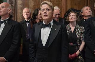 Eddie Izzard with the cast of Six Minutes to Midnight