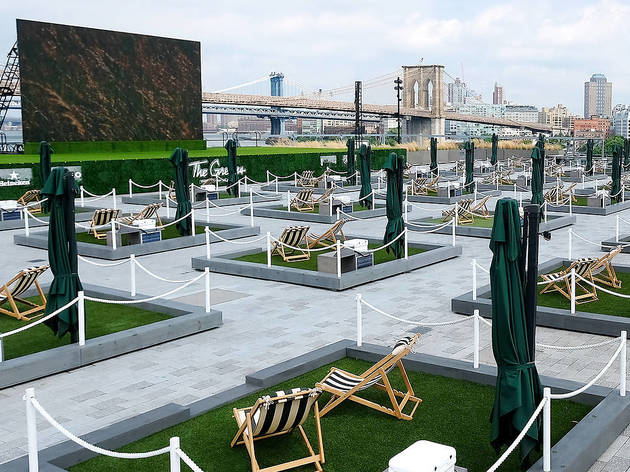 Exciting news: Those mini backyards are coming back to Pier 17 this summer