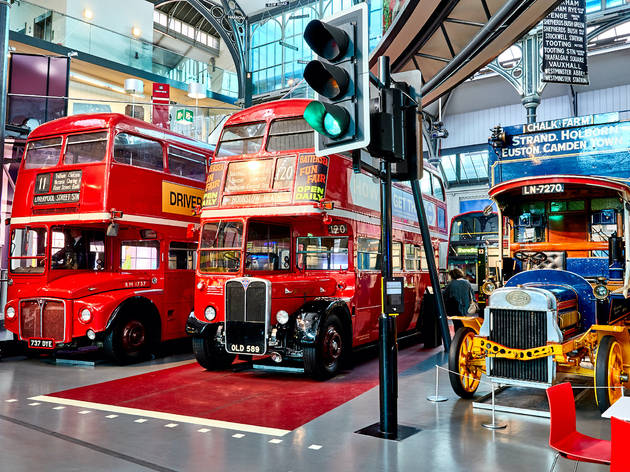 Photo of buses in a museum!