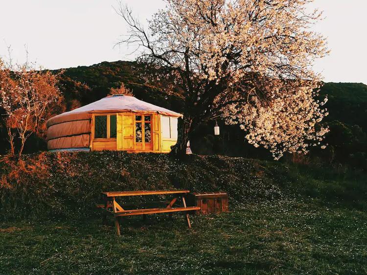 Una yurta en Vallromanes