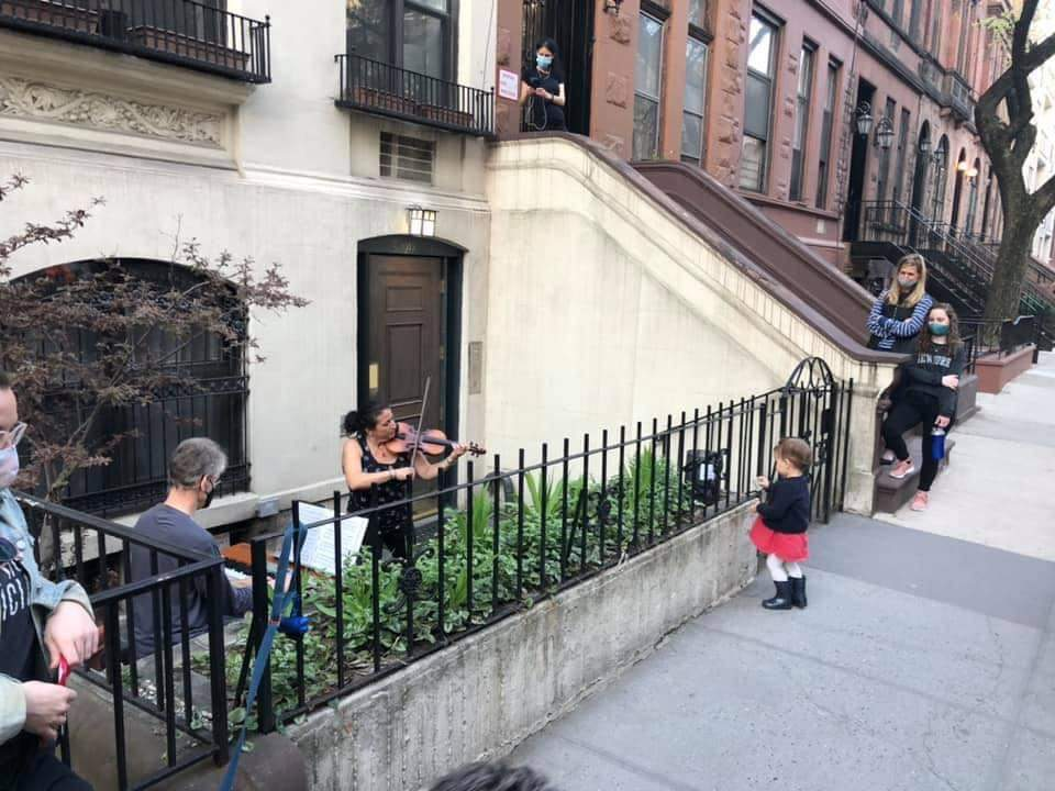Two Broadway musicians are playing free outdoor garden concerts on the Upper West Side