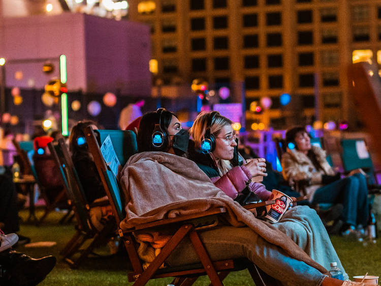 Watch movies from a rooftop or in your car at Rooftop Cinema Club