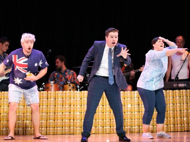 Actors perform in Schapelle, Schapelle.