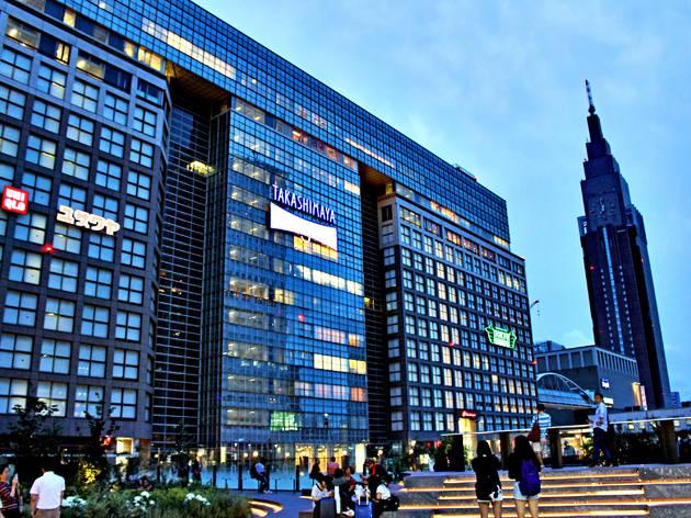 Takashimaya Shinjuku department store at night