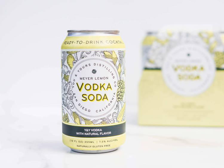 You & Yours Distilling Co. Meyer Lemon Vodka Soda