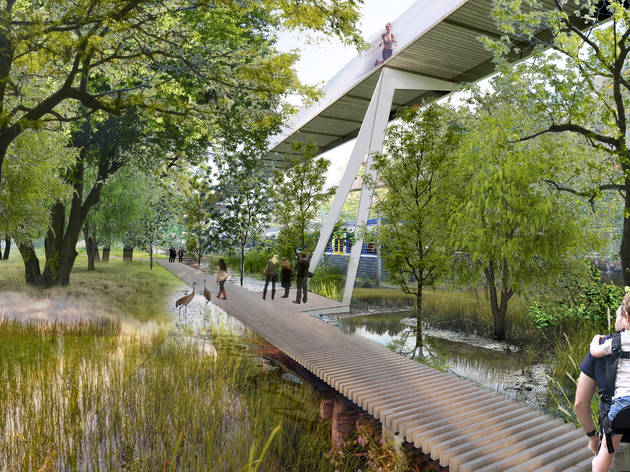 The proposed 'suspended forest' in Milan