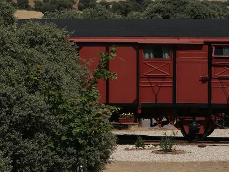 Un vagón de tren en Valdelaguna