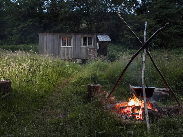 Gwennol cabin, Powys