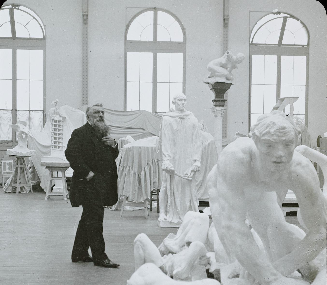 Jules Richard Rodin dans son atelier Musée Rodin, Ph.02392 © Musée Rodin