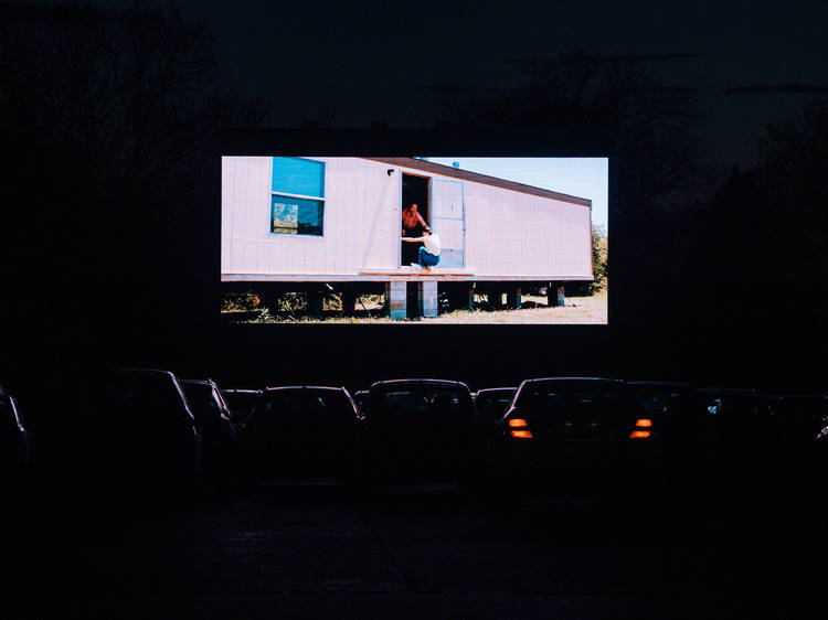 Pull up to Rooftop Film Club's drive-in cinema