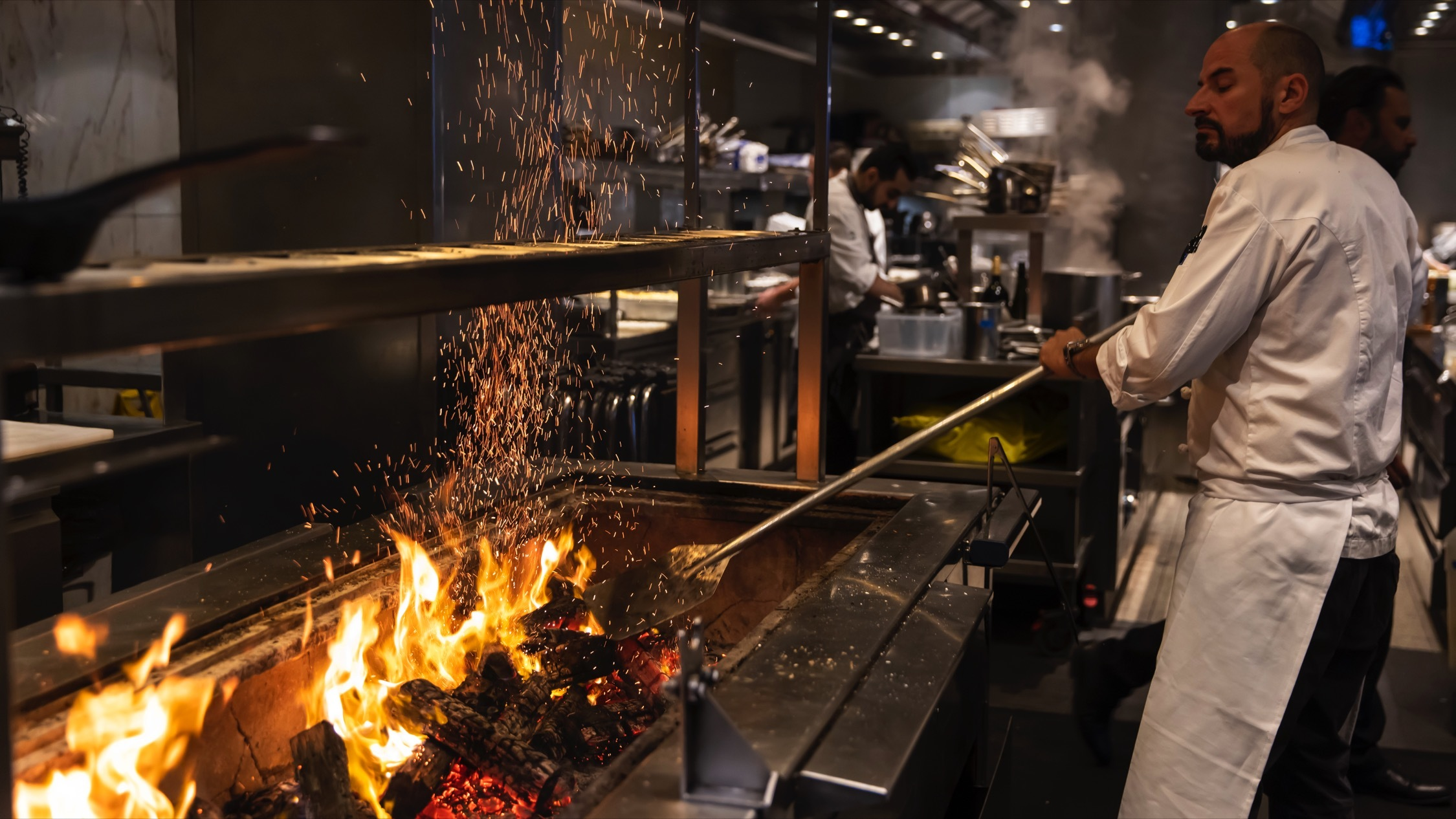 Rockpool Bar and Grill, kitchen overview