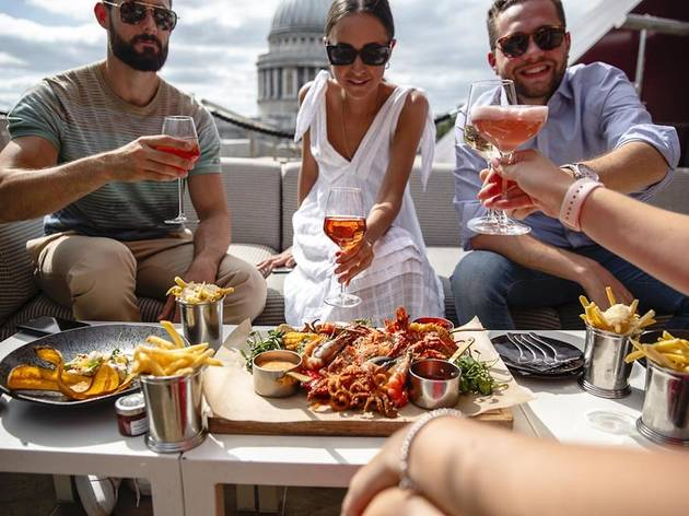Madison, terrace, rooftop, outside dining