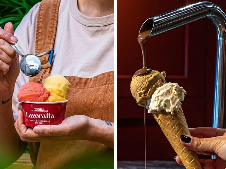 Coma um gelado na Lavoratta