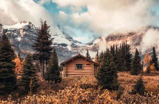 Wooden hut in Canada