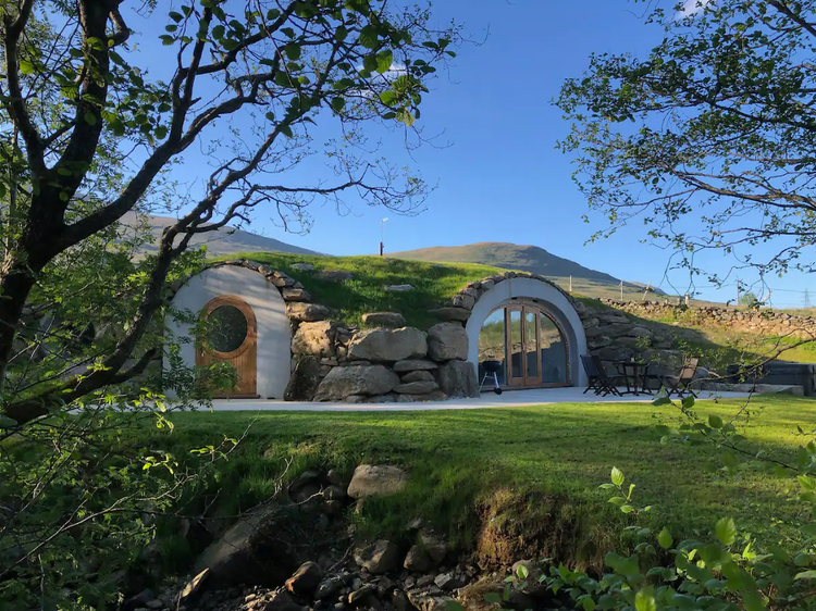The underground cave house in the Scottish highlands