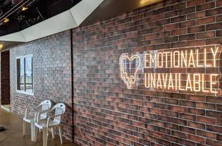 heartbreak motel, emotionally unavailable pop up