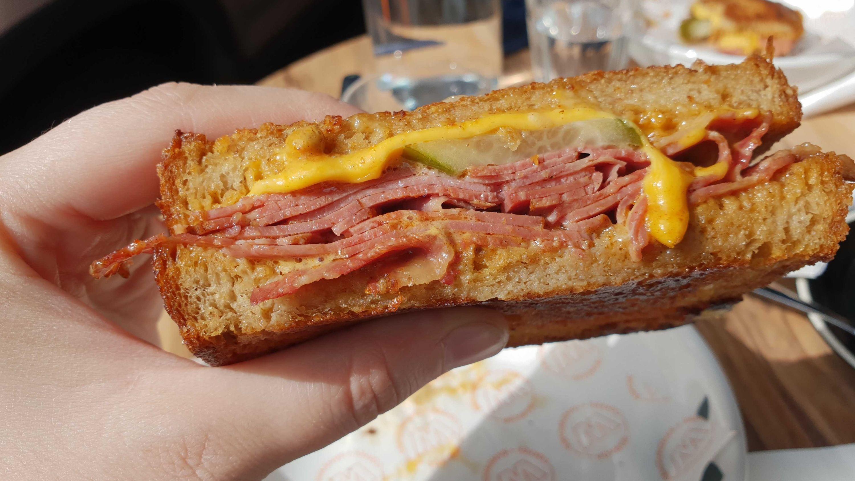 Beef sandwich at Warkop