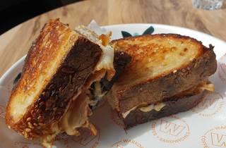 Pork sandwich at Warkop