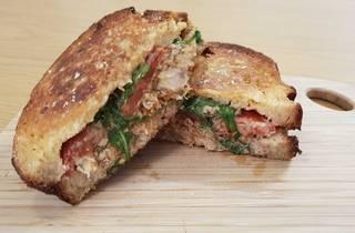 Chicken sandwich at Warkop