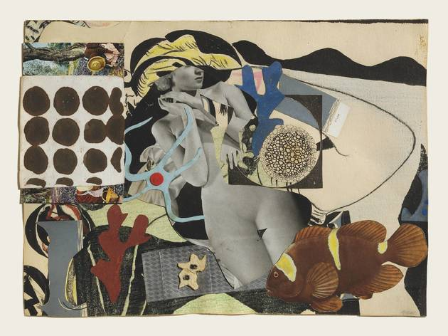 Eileen Agar Erotic Landscape 1942 Collage on paper 255 x 305 mm Private collection ©Estate of Eileen Agar/Bridgeman Images Photograph courtesy Pallant House Gallery, Chichester © Doug Atfield