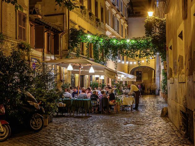 Trastevere in Rome, Italy